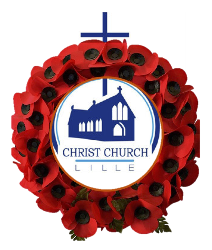 Poppy wreath church