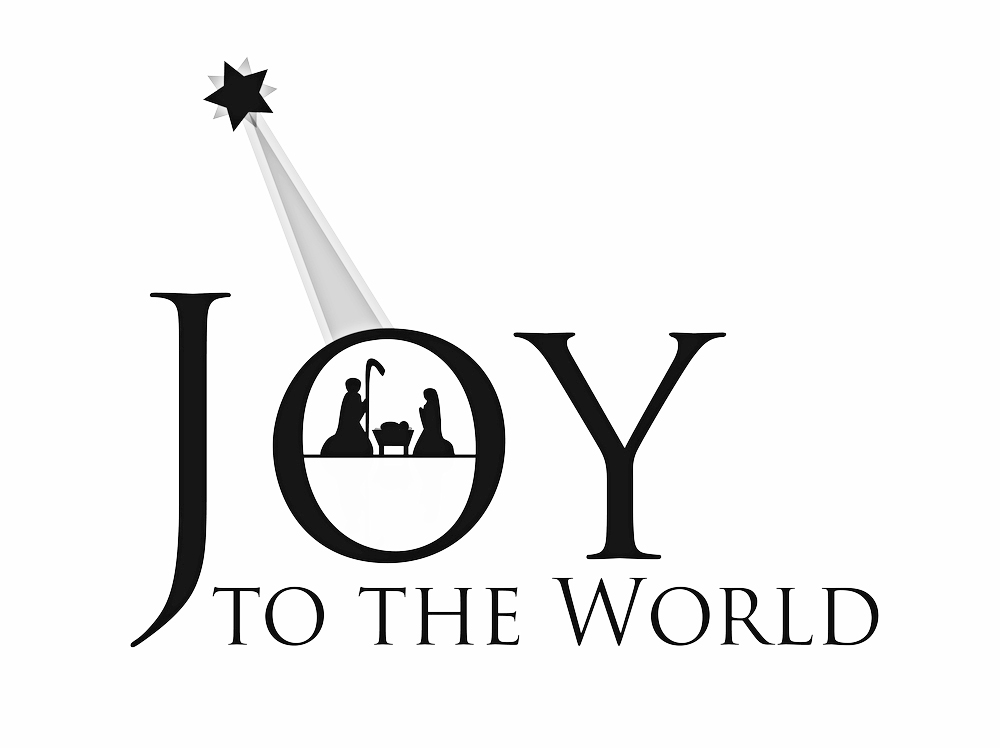 Christmas 2019 Joy to the world black and white