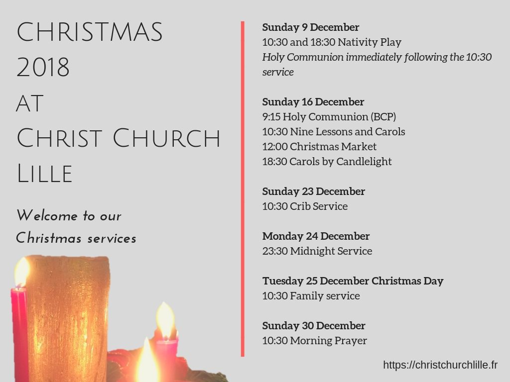 CHRISTMAS 2018 at Christ Church Lille