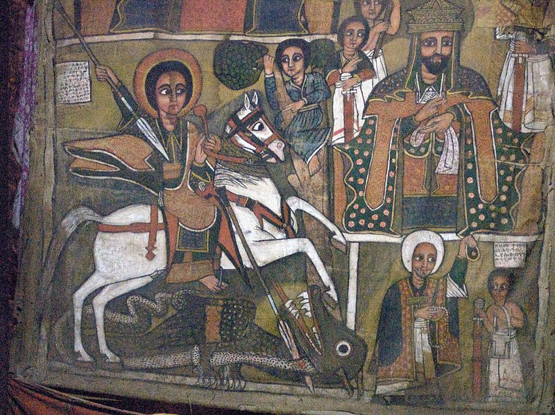 800px-St._George_Slaying_the_Dragon,_Church_of_Debre_Sina,_Lalibela,_Ethiopia_(3234094731)